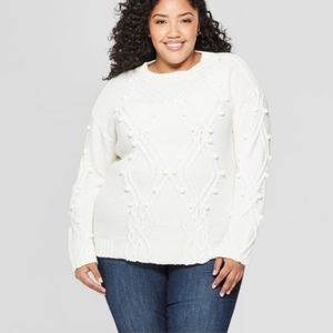 Ava Viv Christmas Sweater Pullover Crew Neck